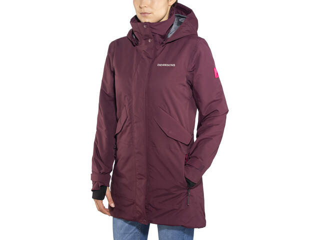 0594f67d Didriksons 1913 Tanja Parka Women wine red at Addnature.co.uk